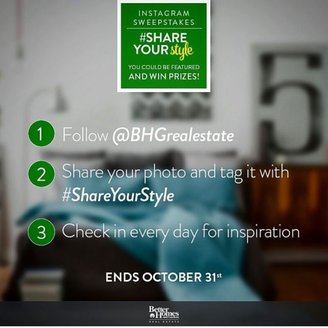 Its the last week to ShareYourStyle and win! bhgrealestate bhgre
