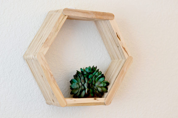 DIY Hexagon shelf